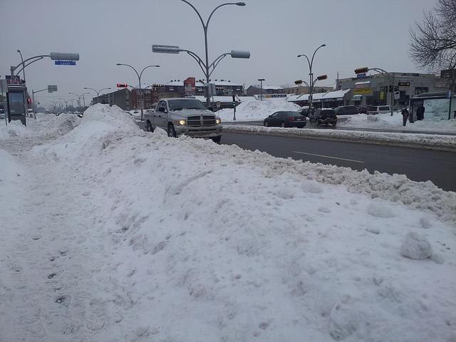 jízda za snížené viditelnosti v zimě