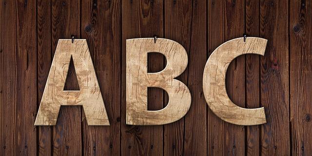 dřevěná abeceda